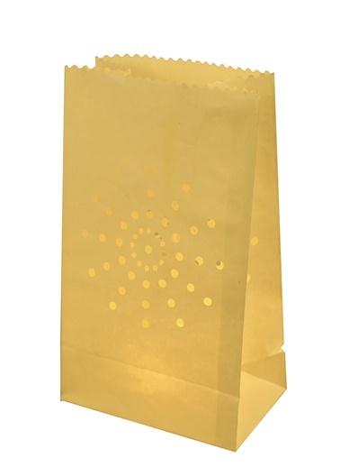 Yıldız Motifli 10'lu Kağıt Fener-Dekorazon